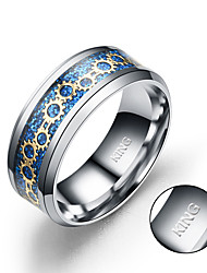 cheap -European and American fashion jewelry inlaid seal new stainless steel ring gear are explosion models