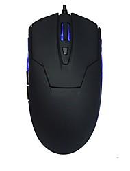 Büro mit reiner schwarzer und blauer Maus