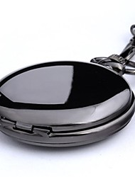 Men's Pocket Watch Quartz Alloy Band Black Silver Gold