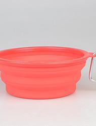 Chien Bols & Bouteilles d'eau Animaux de Compagnie Bols & alimentation Portable Pliable Jaune Rouge Vert Bleu Rose