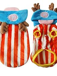 billige -Hund Kostume Hundetøj Tegneserie Orange / Lys pink Plys Stof Kostume For kæledyr Herre / Dame Cosplay
