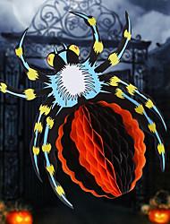 Недорогие -Дизайн случайный Хэллоуин 3d бумага цветок сцена паук детский сад Хэллоуин подвеска аксессуары висячие украшения Хэллоуин украшение опора