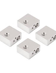 4Pcs Aluminum Heater Heating Block Dedicated for Makerbot MK7 MK8 3D Printer Extruder Hot End