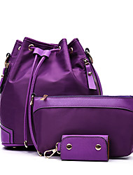 Women Bags All Seasons Nylon Bag Set 3 Pcs Purse Set for Casual Blue Black Purple Fuchsia