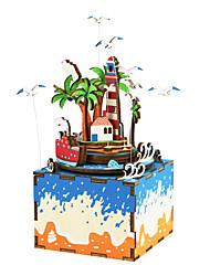 baratos -Quebra-Cabeça Quebra-Cabeças de Madeira Fonógrafo Desenho Faça Você Mesmo De madeira Composto Crianças Dom