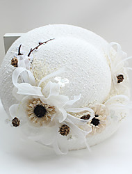 Tulle Lace Fabric Silk Net Headpiece-Wedding Special Occasion Birthday Party/ Evening Fascinators Hats 1 Piece