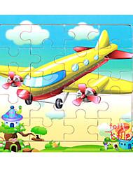 abordables -Puzzle Autres Avion Cartoon 3D En bois Anime Unisexe Cadeau