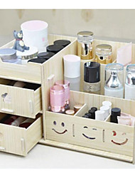 1Pc  Wood Simple European Style Korean Cosmetics  Storage Box