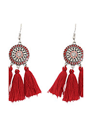 Women's Drop Earrings Jewelry Tassel Vintage Bohemian Personalized Fashion Cotton Alloy Geometric Jewelry ForParty Graduation Other Gift