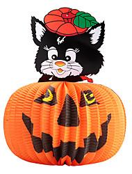 1pc festival décoration halloween papier pendentif lanterne maison hantée jack-o-lanternes sorcière crâne style aléatoire