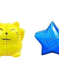 baratos -Rubik's Cube Cubo Macio de Velocidade Alivia Estresse Cubos Mágicos Plásticos Desenho Estrela Dom