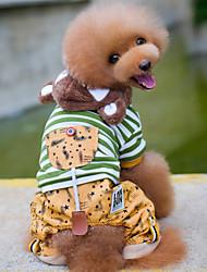 Perro Mono Ropa para Perro Casual/Diario Rayas Estrellas Gris Verde Disfraz Para mascotas