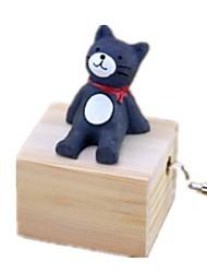 abordables -Boîte à musique Jouets Animaux Canard Carrousel Plastique Bois Adorable Pièces Unisexe Anniversaire Cadeau