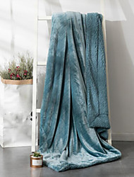 Недорогие -Супер мягкий Сплошной цвет Полиэфир одеяла