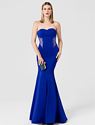 cheap -Mermaid / Trumpet Sweetheart Floor Length Spandex Formal Evening Dress with Crystal Detailing by TS Couture®