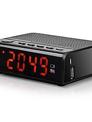 MX-19 FM Rádio Relogio Despertador Despertador Bluetooth Cartão TFWorld ReceiverPreto