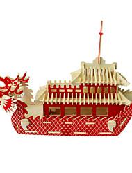 baratos -Quebra-Cabeças 3D Quebra-Cabeça Modelos de madeira Barco de Guerra Navio Faça Você Mesmo Madeira Madeira Natural Unisexo Dom