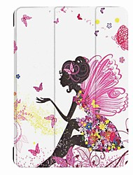 Painting Pattern Three fold PU Leather Case with Stand for Lenovo Tab 4 10.0 inch Tablet PC