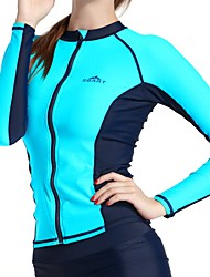 cheap -Women's Diving Rash Guard UV resistant Stretchy Chinlon Long Sleeves Top Surfing Diving & Snorkeling