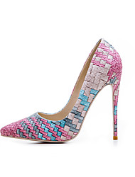 Women's Shoes Fabric Fall Winter Basic Pump Heels Pointed Toe For Casual Fuchsia Red Wine