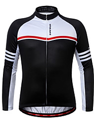 cheap -WOSAWE Cycling Jersey Unisex Long Sleeves Bike Jersey Top Winter Fleece Bike Wear Quick Dry Breathability Stretchy Classic Road Cycling