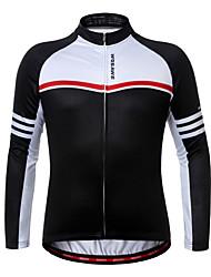 economico -WOSAWE Maglia da ciclismo Unisex Manica lunga Bicicletta Maglietta/Maglia Top Inverno Vello Abbigliamento ciclismo Asciugatura rapida