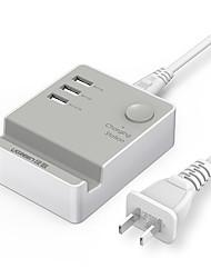 Зарядное устройство USB UGREEN 3 порта Настольная зарядная станция С коммутатором (а) Подставка для стойки Универсальный Адаптер зарядки