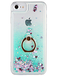 billige -Etui til Apple iPhone 7 plus iPhone 7 cover flowing flydende ring holder tilbage cover case glitter shine hard pc til iPhone 6s plus
