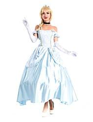 Princesse Conte de Fée Cosplay Costumes de Cosplay Bal Masqué Féminin Halloween Carnaval Fête / Célébration Déguisement d'Halloween Bleu