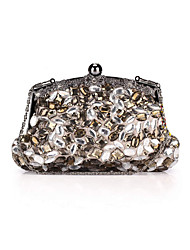 cheap -Women Bags Polyester Evening Bag Rhinestone Crystal for Wedding Event/Party Formal All Seasons Gray