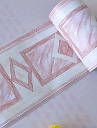 baratos -Fronteira PVC / Vinil Revestimento de paredes - Auto-adesivo Padrão