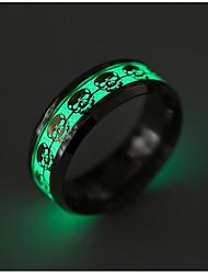 preiswerte -Herrn Bandring - Totenkopf Modisch Gold Silber Ring Für Alltag
