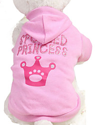 FUN OF PETS® 2016 Pink Red Spolied Princess Pattern Hoodie Dog T-Shirts Dog Clothes for Dogs