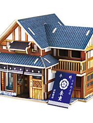 Недорогие -3D пазлы Деревянные пазлы Деревянные игрушки Наборы для моделирования Автомобиль Лошадь Архитектура 3D Своими руками 3D Дерево