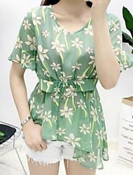 preiswerte -Damen T-shirt - Blumen Rock