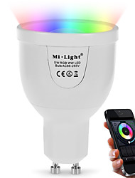 cheap -5W GU10 LED Smart Bulbs A60(A19) 12 leds SMD 5730 Infrared Sensor WIFI Light Control Dimmable Remote-Controlled Dual Light Source Color