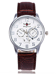 cheap -Men's Dress Watch Fashion Watch Wrist watch Unique Creative Watch Casual Watch Chinese Quartz Calendar / date / day Leather Band Charm