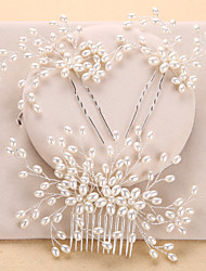 cheap -Imitation Pearl Hair Combs Headwear with Floral 1pc Wedding Special Occasion Anniversary Birthday Party / Evening Office / Career