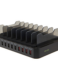 USB Charger 10 Ports Desk Charger Station With Switch(es) Stand Dock Universal Charging Adapter