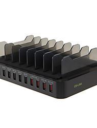 Зарядное устройство USB 10 портов Настольная зарядная станция С коммутатором (а) Подставка для стойки Универсальный Адаптер зарядки