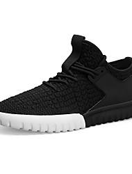 baratos -Homens sapatos Couro Ecológico Outono / Inverno Conforto Tênis Caminhada Preto / Cinzento / Vermelho