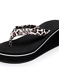 Da donna Pantofole e infradito Pantofole e flip-flop Comoda Suole leggere Estate PU sintetico Casual Formale Zeppa Oro Nero Leopardo 5 -