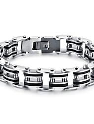 cheap -Men's AAA Cubic Zirconia Cubic Zirconia Gold Plated Star Chain Bracelet - Hip-Hop Fashion Gothic Rock Punk Circle Geometric Star White