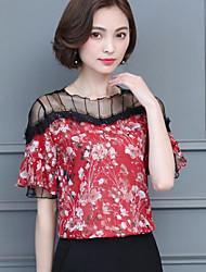 cheap -Women's Blouse - Floral Artistic Style