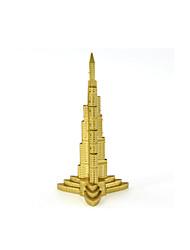 Недорогие -Пазлы Металлические пазлы Башня Знаменитое здание 3D Своими руками Медь Металл Универсальные Подарок