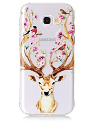 cheap -Case For Samsung Galaxy A3 (2017) A5 (2017) Case Cover Deer Head Pattern Feel Varnish Relief High Penetration TPU Material Phone Case