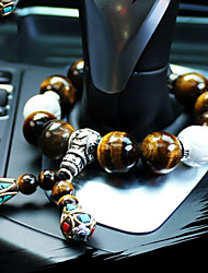 cheap -DIY Automotive High-Grade Car Pendant Stalls Beads Natural Tiger Eye Stone Car Pendant & Ornaments Jade