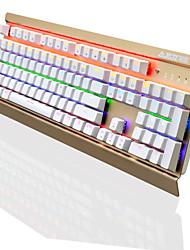Ajazz ak70 104 tasti tastiera meccanica di gioco tastiera sospesa arcobaleno backlight antighosting interruttore nero