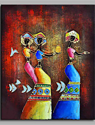 Yoruba of Festival 100% Hand Painted Contemporary Oil Paintings Modern Artwork Wall Art for Room Decoration