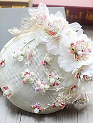abordables -Tulle Mousseline de soie Tissu Plastique Soie Filet Fascinators Chapeaux Pince à cheveux 1 Mariage Occasion spéciale Anniversaire Fête /